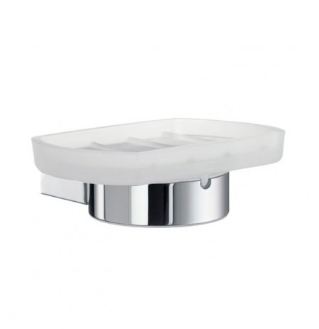 Smedbo AK342 Air Holder with Glass Soap in Polished Chrome