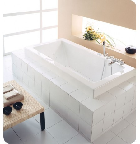 "Neptune ZEN3266 Zen 66"" x 32"" Customizable Rectangular Bathroom Tub"