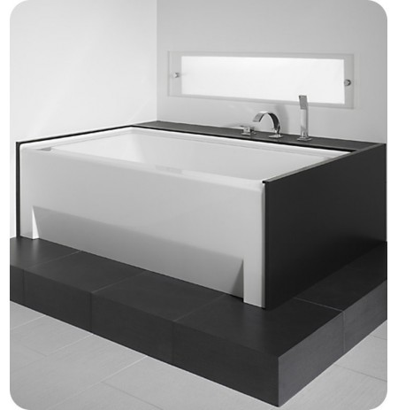 """Neptune ZO3666 Zora 66"""" x 36"""" Customizable Rectangular Bathroom Tub with Skirt"""