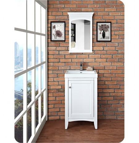 Fairmont Designs 1512-V2118 Shaker Americana 21 x 18 inch Vanity in Polar White