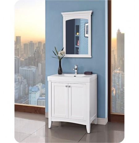 Fairmont Designs 1512-V3018 Shaker Americana 30 x 18 inch Vanity in Polar White