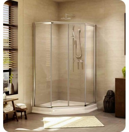 "Fleurco EAN36  Signature 36"" Amalfi Neo Semi Frameless Neo Angle Sliding Shower Doors"