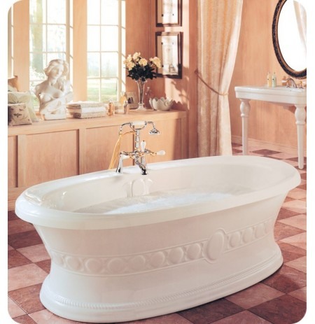 "Neptune UL72 Ulysse 72"" Freestanding Customizable Oval Bathroom Tub"