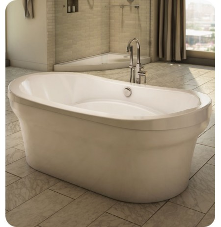 "Neptune REV3666F Revelation 66"" x 36"" Customizable Oval Freestanding Bathroom Tub"