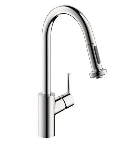 Hansgrohe 14877 Talis S 2-Spray HighArc Pull Down Kitchen Faucet