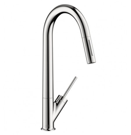 Hansgrohe 10821 Axor Starck 2-Spray HighArc Pull-Down Kitchen Faucet