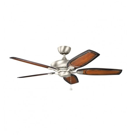 "Kichler 300117NI Canfield 52"" Indoor Ceiling Fan with Blades and Downrod"