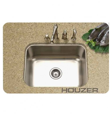 Houzer MS-2309-1 Rectangular Undermount Single Basin Bar Sink