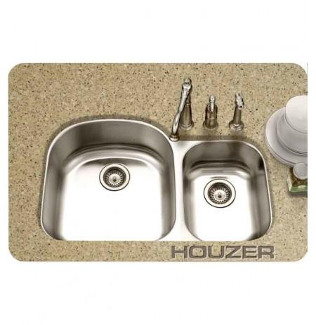 Houzer MC-3210SR-1 36 inch Undermount 70 / 30 Large Left Basin Kitchen Sink