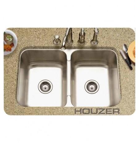 Houzer MGD-3120-1 Undermount Double Basin Kitchen Sink