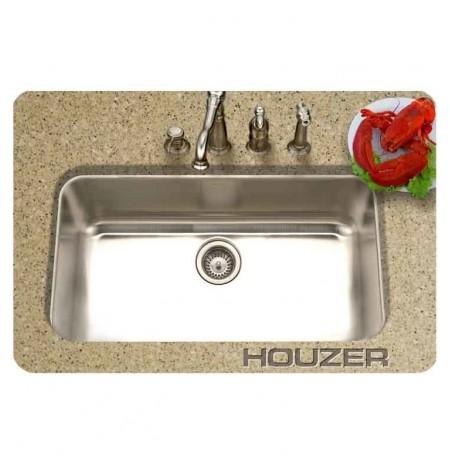 Houzer MGS-3018-1 Square Undermount Single Basin Kitchen Sink