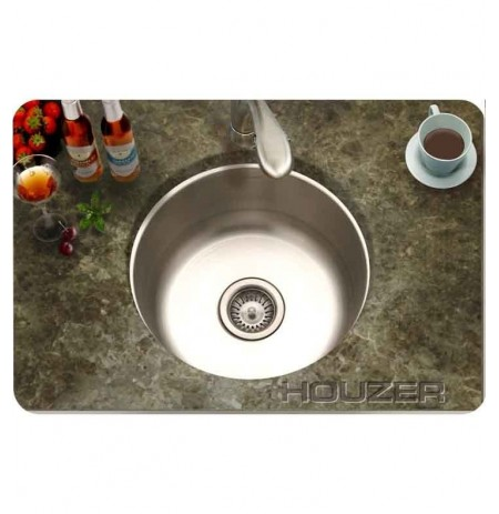 Houzer CF-1830-1 Undermount Round Single Basin Bar Sink
