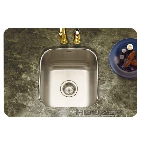 Houzer MS-1708-1 Undermount Single Basin Bar Sink