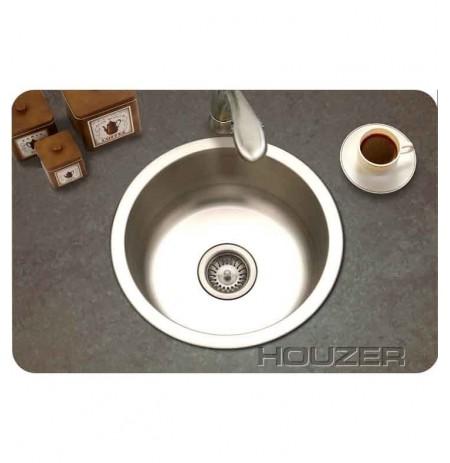 Houzer SCF-1830-1 Round Self Rimming Bar Sink