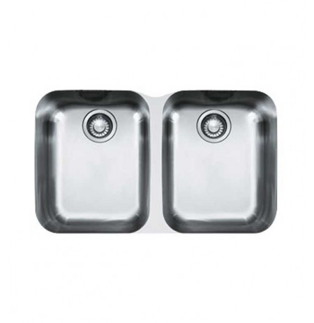 Franke ARX12031 Artisan Double Basin Undermount Stainless Steel Kitchen Sink