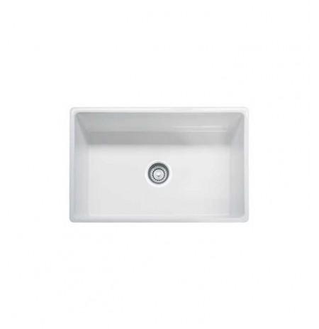 Franke FHK710-30WH White Farm House Single Basin Fireclay Kitchen Sink