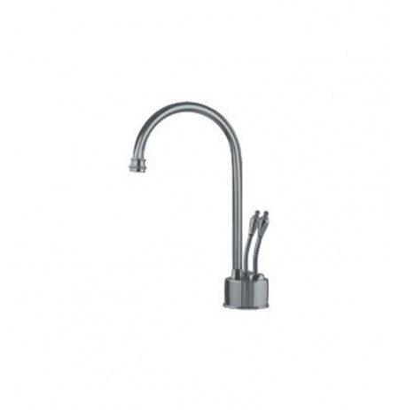 Franke LB6280 Hot and Cold Water Dispenser Faucet with Metal Lever Handles in Satin Nickel