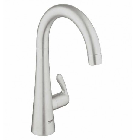 Grohe 30026DC0 Ladylux Basin/Pillar Tap in Super Steel