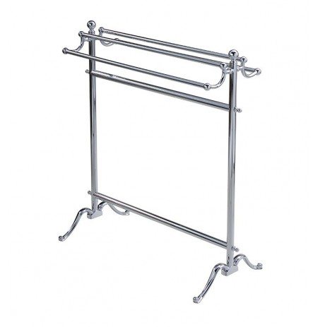 Valsan 53515 Valdemar Dos Santos Bathroom Floor Standing Double Towel Holder