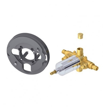 Danze D112505T Single Control Pressure Balance Mixing Valve with Screwdriver Stops in Rough Brass