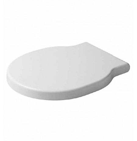 Duravit 0060210000 Bathroom Foster Plastic Round Toilet Seat and Cover in White Alpin Finish