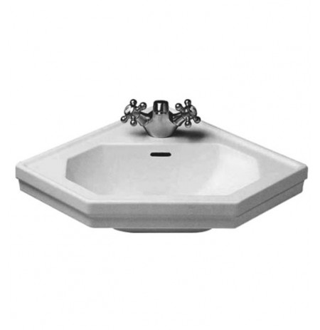 Duravit 0793420000 1930 Series Drop In Porcelain Corner Bathroom Sink