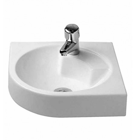 Duravit 04484500 Architec Wall Mount-Corner Porcelain Bathroom Sink