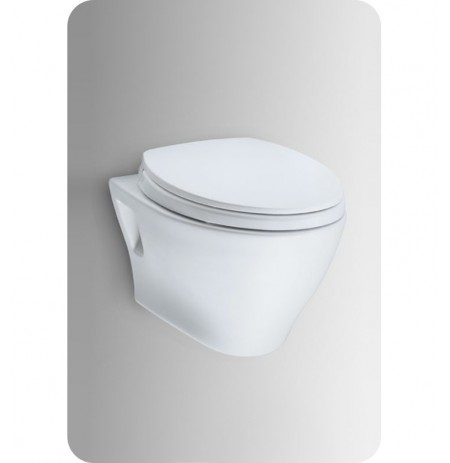 TOTO CT418F Aquia® Wall-Hung Dual-Flush Toilet, 1.6GPF & 0.9GPF