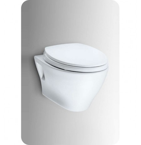 TOTO CT418FG Toto Aquia® Wall-Hung Dual-Flush Toilet, 1.6GPF & 0.9GPF with CEFIONTECT Glaze Color