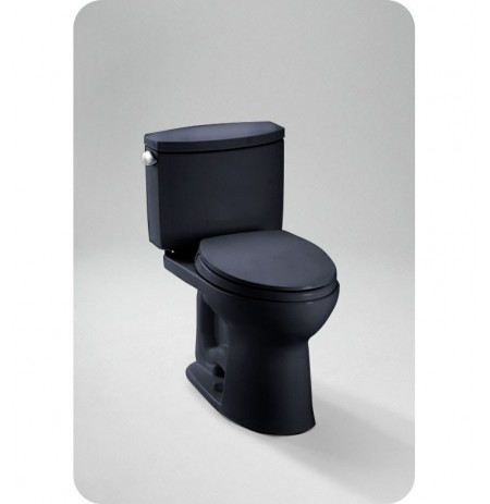 TOTO CST454CEF Drake II Two Piece Toilet in Ebony Black, 1.28 GPF