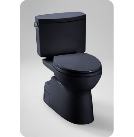 TOTO CST474CEF Vespin® II Two Piece High Efficiency Toilet, 1.28GPF in Ebony Black