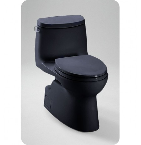TOTO MS614114CEF Carlyle® II One-Piece High-Efficiency Toilet in Ebony Black, 1.28GPF
