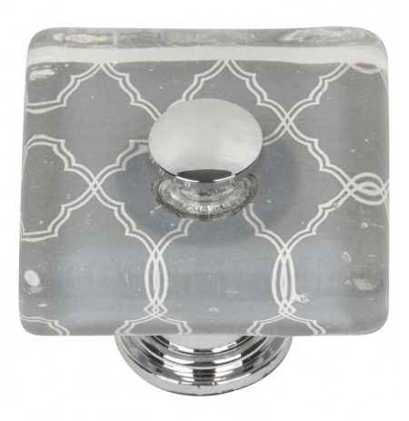 "Atlas Homeware 1-1/2"" 3234-CH Cabinet Knob from the Dream Glass Collection"