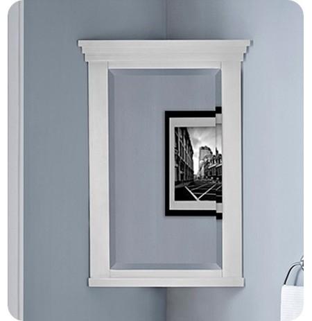 """Fairmont Designs 1512-CMC21 Shaker Americana 18"""" Corner Medicine Cabinet in Polar White"""