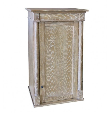 "Fairmont Designs 142-HT2118 Rustic Chic 21x18"" Linen Hutch in Weathered Oak"