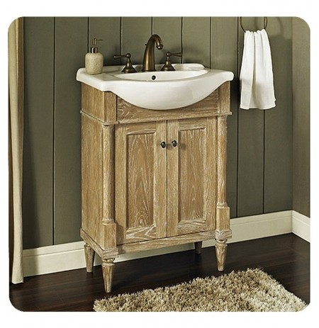 "Fairmont Designs 142-EU2617 Rustic Chic 26x17"" Euro Vanity in Weathered Oak"
