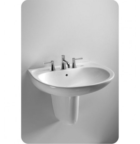 TOTO LHT241G Supreme® Wall Mount Lavatory - with SanaGloss®