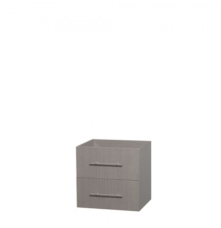 24 inch Single Bathroom Vanity in Gray Oak, No Countertop, No Sink, and No Mirror