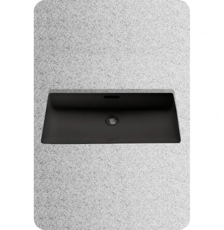 TOTO LT191 Undercounter Lavatory Sink in Ebony Black