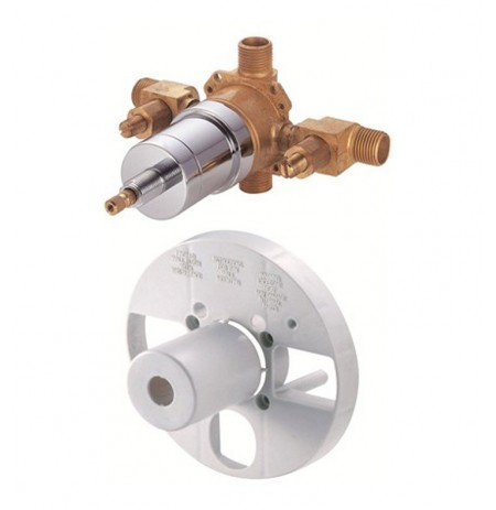 Danze D112000BT Single Control Pressure Balance Mixing Valve with Screwdriver Stops in Rough Brass