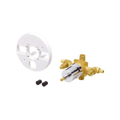 Danze D112010BT Single Control Pressure Balance Mixing Valve with Screwdriver Stops in Rough Brass