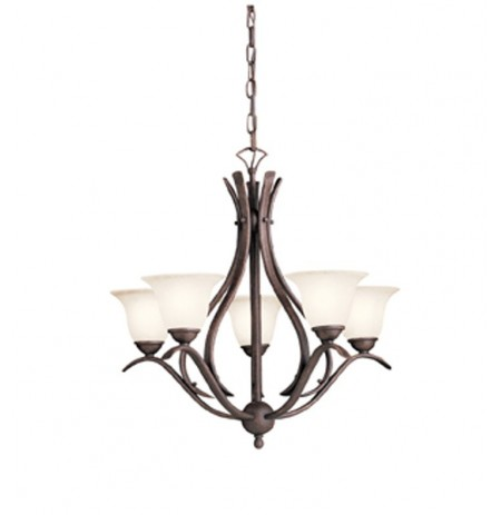 Kichler 2020TZ Dover Collection Chandelier 5 Light in Tannery Bronze