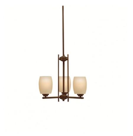 Kichler 1894OZ Eileen Collection Mini Chandelier 3 Lights in Olde Bronze