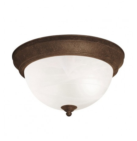 Kichler 8108TZ Flush Mount 2 Light in Tannery Bronze