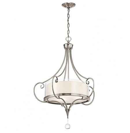 Kichler 42864CLP Lara Collection Chandelier/ Pendant 3 Light in Classic Pewter