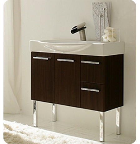 LaToscana 7059-W Cortina Collection Wenge Wood Modern Bathroom Vanity
