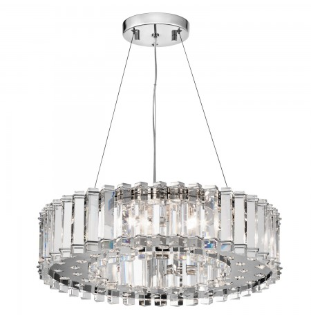 Kichler 42195CH Crystal Skye Collection Chandelier/Pendant 8 Light Halogen in Chrome