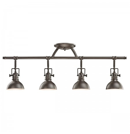 Kichler 7704OZ Fixed Rail 4 Light Halogen in Olde Bronze