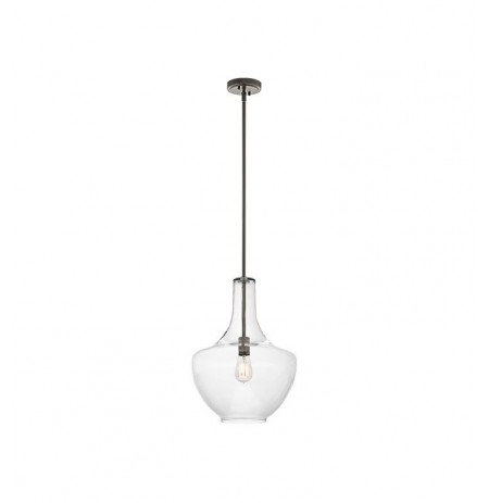 Kichler 42046OZ Everly Collection Pendant 1 Light in Olde Bronze