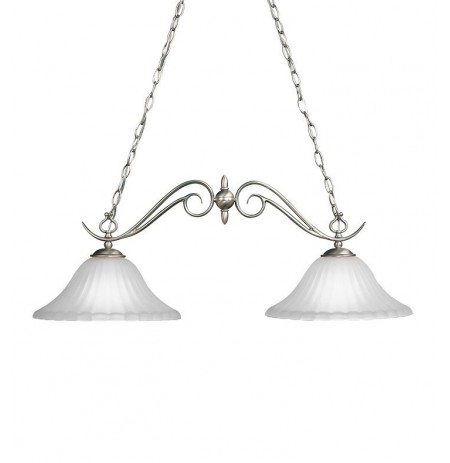 Kichler 2929NI Willowmore Collection Chandelier Island 2 Light in Brushed Nickel